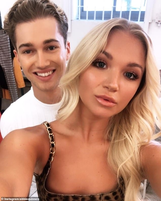 Dancing duo: Abbie Quinnen, 24, looked loved-up as she danced hand-in-hand with her Strictly star beau AJ Pritchard, 26, in an adorable video shared on Instagram on Tuesday