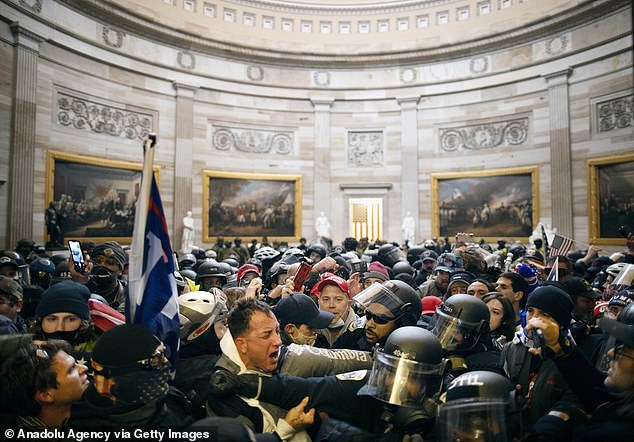 The insurrection broke out on January 6 when a group of pro-Trump protesters stormed the Capitol in an effort to prevent lawmakers from certifying the results of the 2020 election