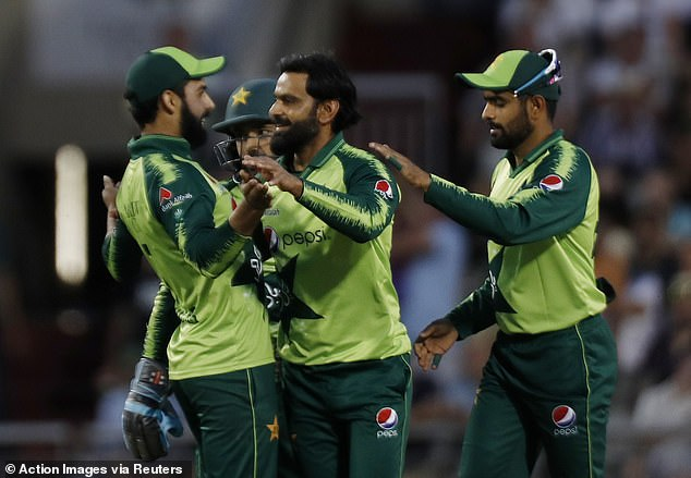 Veteran Mohammed Hafeez then bowled Moeen Ali for one as England stumbled in the chase