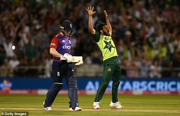 Hasan Ali failed to catch Morgan just moments before he had the England skipper dismissed