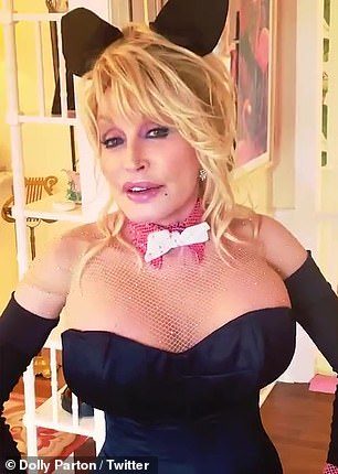 The Jolene hitmaker explained: 'Remember sometime back I said I was going to pose in Playboy magazine when I'm 75? Well I'm 75 and they don't have a magazine any more
