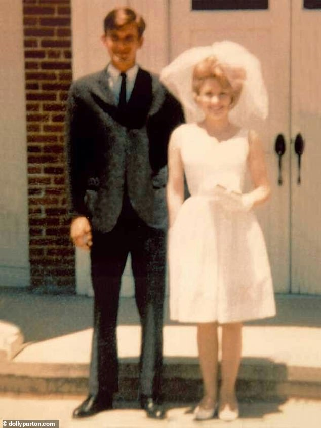 Newlyweds: They married two years later in a small ceremony in a Baptist church in Georgia with only her mother and the preacher and his wife present