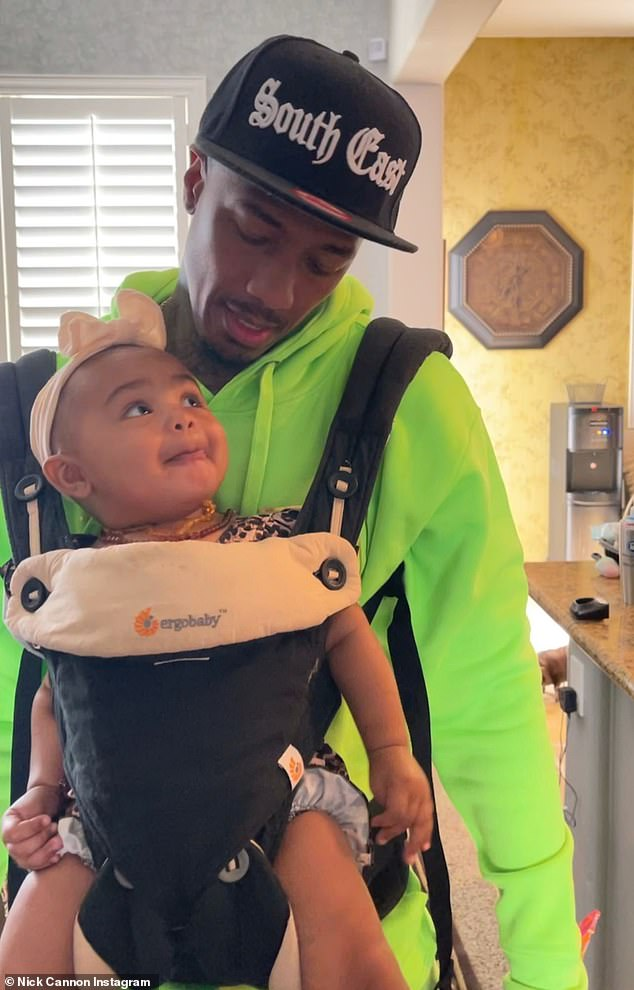Family man: Nick Cannon, 40, shared photos of five of his seven children to his Instagram Stories earlier this week as he got to spend time with his blended family