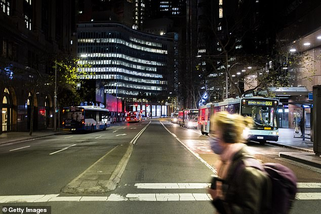 The once-lively streets of the Sydney CBD have been left almost devoid of life as the city faces an indefinite lockdown - making a curfew for Australia's biggest city unlikely at this point