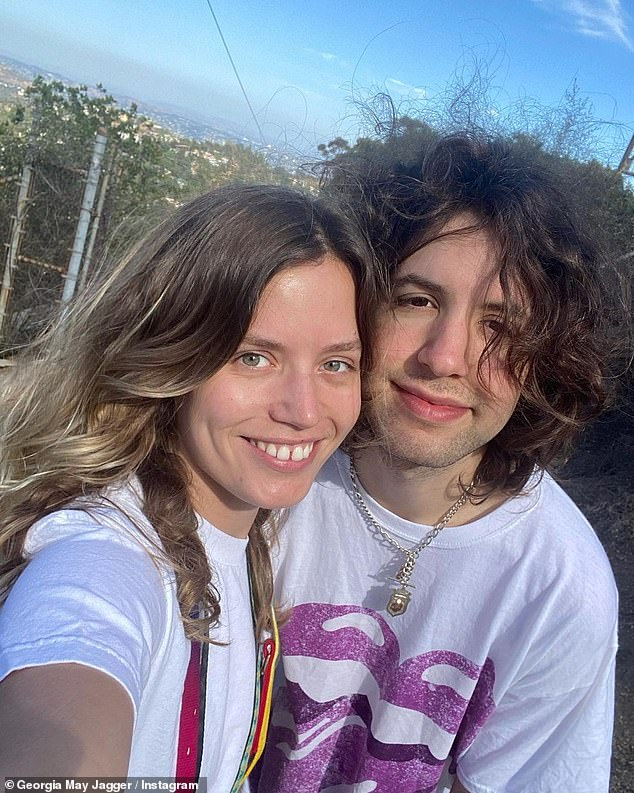 Let me take a selfie: On Sunday, Georgia's brother Lucas, 22, took to Instagram where he uploaded a series of photographs and videos of the pair taken over the last month