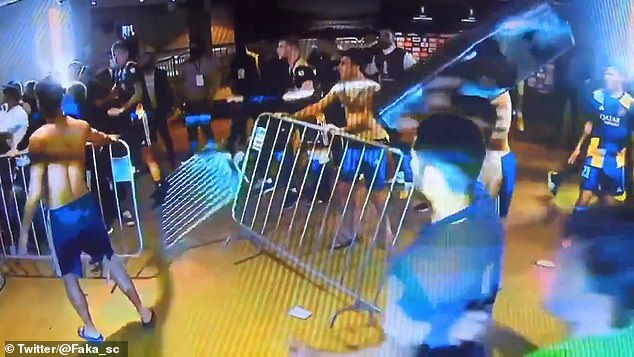 Rojo punched a security guard following Boca's defeat to Atletico Mineiro in July
