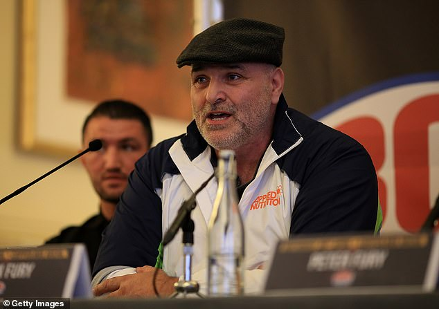Fury's father John (above) is convinced that Joshua is 'straight through' Usyk.  will walk