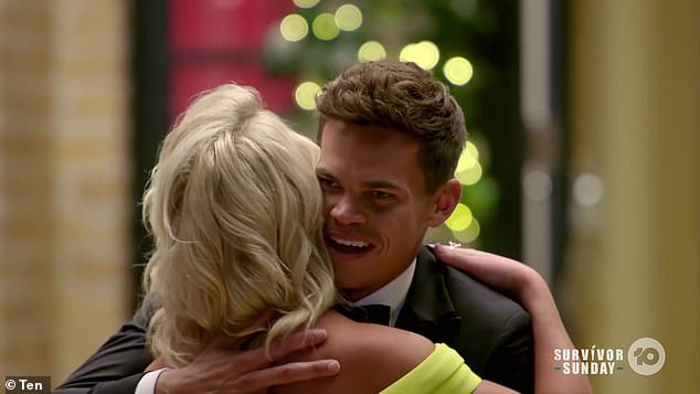Sweeping him off his feet: After arriving at The Bachelor mansion, Holly swiftly pulled Jimmy Nicholson (right) aside, convincing him to take a 'breather'