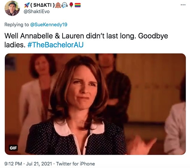 Low-key exit: The elimination didn't seem to have quite as much of an impact, with many viewers claiming Annabelle, 28, and Lauren, 29, had flown under the radar