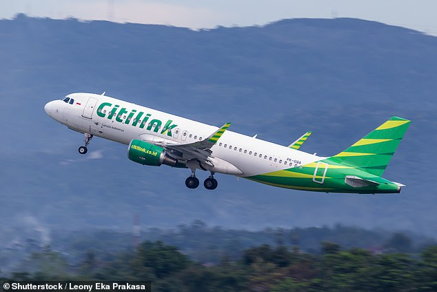 An Indonesian man with Covid-19 has been caught disguising himself as his wife by wearing a niqab in order to board a Citilink flight (file image)