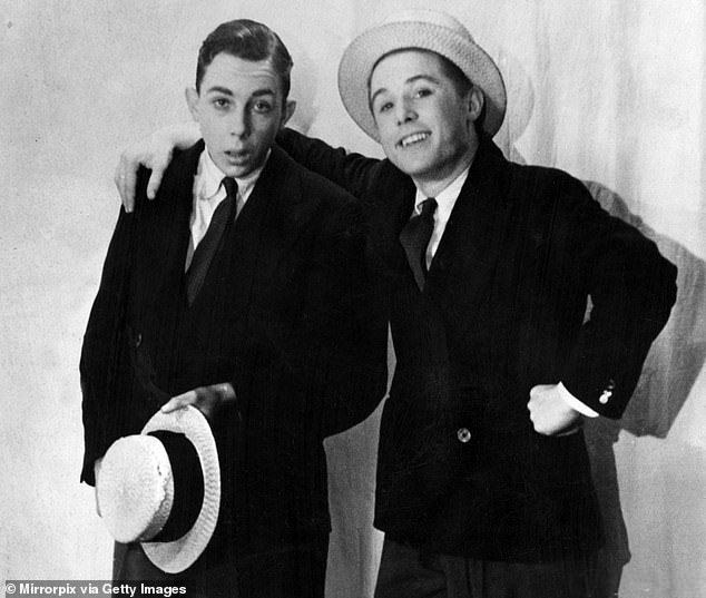 Young funs: Starting out aged 14 around 1939.The duo moved to the Beeb from ITV in 1968, but they were cautious, preferring to record in colour for a smaller audience on BBC2 initially