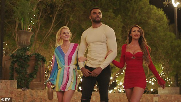 Incoming:Elsewhere, minutes after Danny and AJ's exit, three newcomers strolled into the villa and wasted no time in making their intentions clear