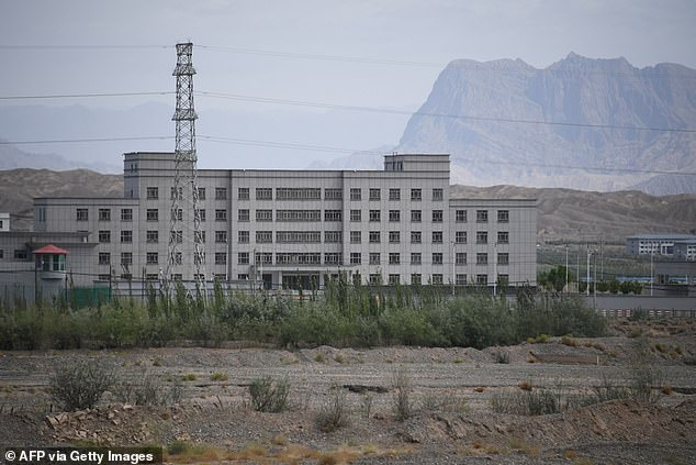 The Chinese communist government is said to have built 347 buildings that resemble detention camps in Xinjiang in the far west of the country - with room for 1,014,883 inmates