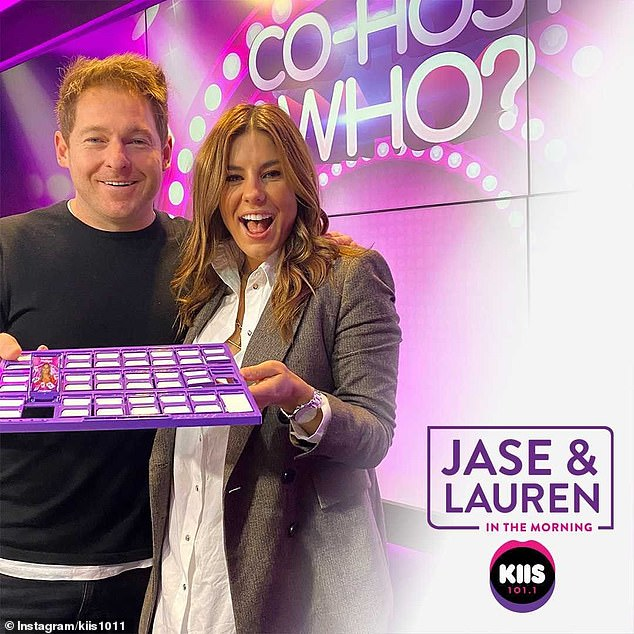 Confirmed: The new program will now be called Jase & Lauren in the Morning, with Lauren taking the reins alongside co-host Jason 'Jase' Hawkins (left)