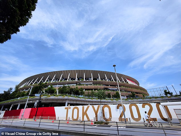 The Queensland premier said on Tuesday she would refuse an invitation to be one of 1,000 VIPs allowed to watch the opening ceremony in Tokyo. Pictured is the National Stadium where the ceremony is being held