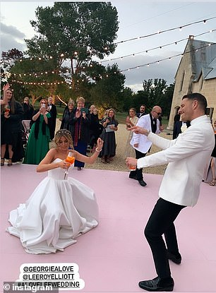 Promo: The reality TV star, who says her wedding was not sponsored by any brand, regularly updated her Instagram with posts praising her dress designer Jason Grech, photographer Cassandra Ladru and hairstylist Rhys Mitchell harrison
