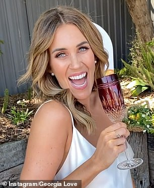 Forget the ladies, everything revolves around me!  Georgia Love (pictured) refused to let Jimmy Nicholson's bachelorettes steal the show at Wednesday's season premiere of The Bachelor