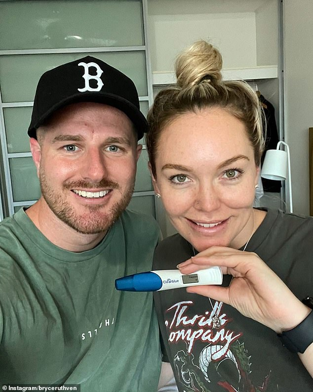 Not nice: This comes after Georgia deleted a petty tweet about Married At First Sight Bryce Ruthven (left) and Melissa Rawson (right) announce they are expecting twins