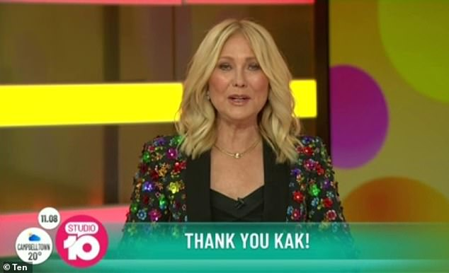 She is back!  Studio 10 revealed Kerri-Anne Kennerley is making a comeback on the breakfast show alongside Jessica Rowe - after being mercilessly dumped on the show last year