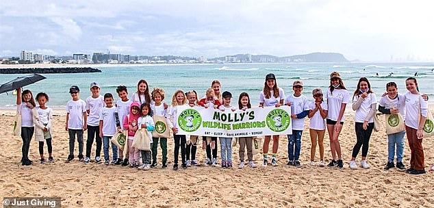 The schoolgirl also created Molly's Wildlife Warriors to raise money for Currumbin Wildlife Hospital on the Gold Coast