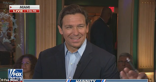 Ron DeSantis demanded Joe Biden beams the internet to the people of Cuba instead of 'just sitting there doing nothing' on Fox News Sean Hannity Wednesday night