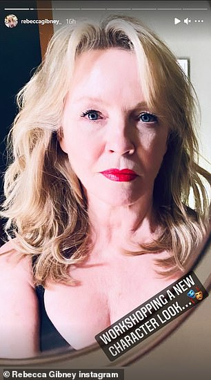 What a difference! On Wednesday, Rebecca Gibney shared a pictured of herself rocking her usual blonde locks - before posting a secondof her locks dyed a dark chocolate brown