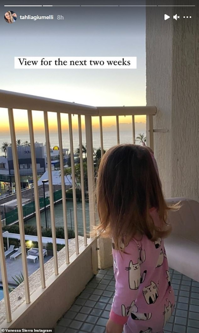 Dreams: Although they can't leave the apartment, the view is certainly something to enjoy - with the Gold Coast beach, the beautiful sunset and the hotel pool and tennis court