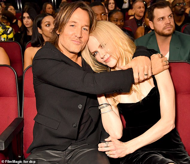 New series: Nicole debuted her brand new haircut on the set of new anthology series for Apple TV+ Roar. Pictured Nicole and husband Keith Urban