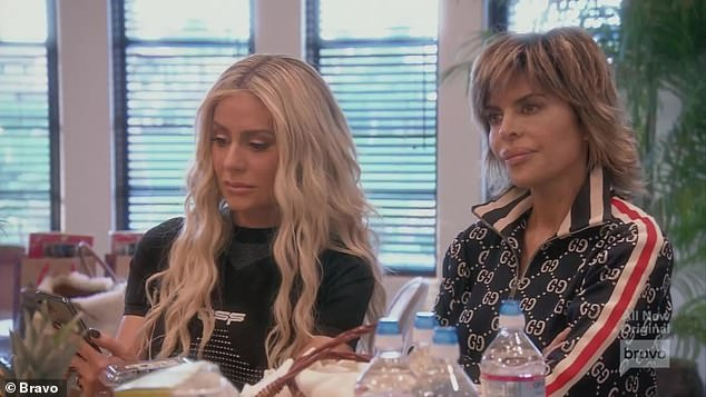 Late arrival:Dorit Kemsley and Lisa Rinna wondered what time Erika would show up