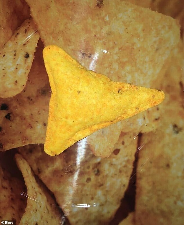 """There are """"swollen"""" Dorito (pictured) is sold in pristine condition and has reached $20,000 at auction"""
