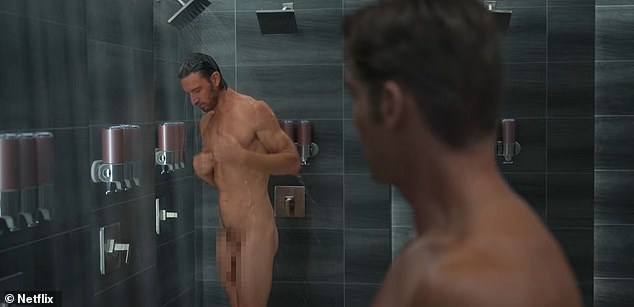 Making headlines: The actor became an overnight sensation last month after showing everything for a sexy shower scene in Netflix's steamy new series