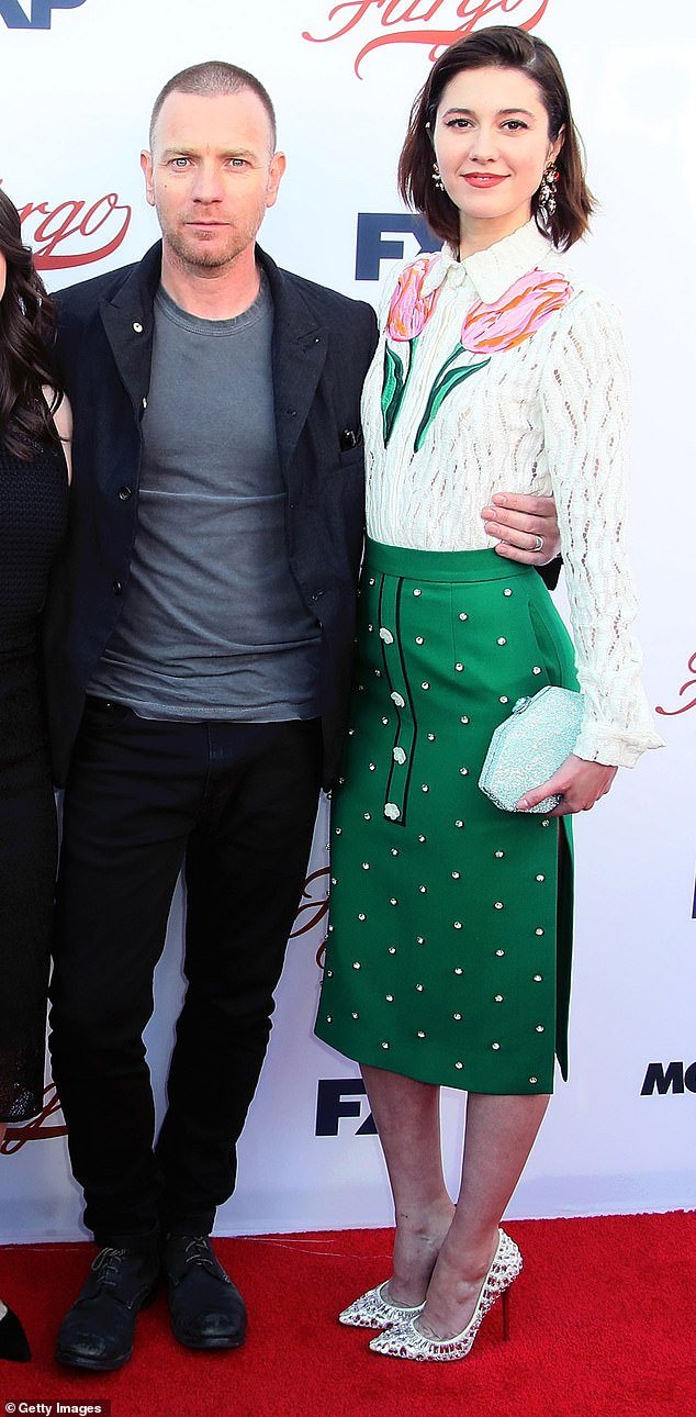 Congratulations:The couple (pictured in 2017), never revealed they were expecting, theyhave been together since 2017 after they met on the set of Fargo