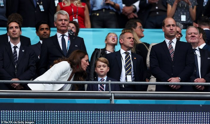 George recently attended the Euro2020 games at Wembley - he is pictures with his parents during the England vs Italy final