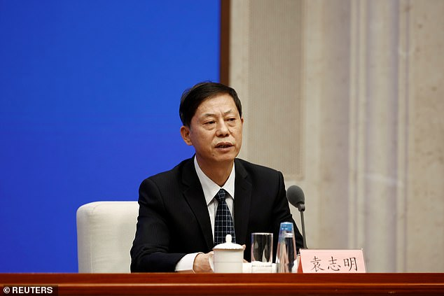 China's vice health minister Zeng Yixin (pictured) told reporters last month that he was 'extremely surprised' by the plan