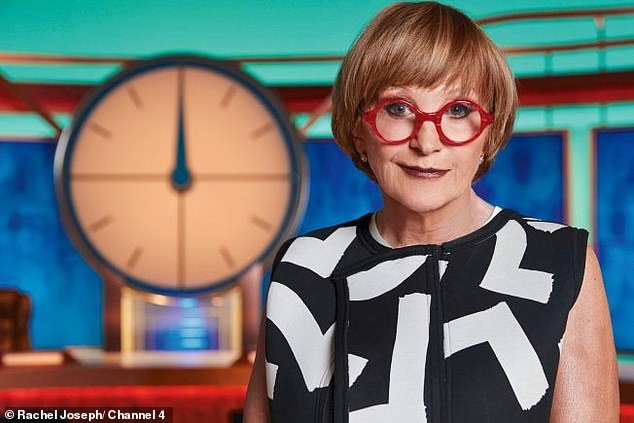 Tough: Anne Robinson, 76, brought her middle weak link streak to her new role in Countdown as she mocked the candidates for living in Norfolk and the Isle of Wight on Monday