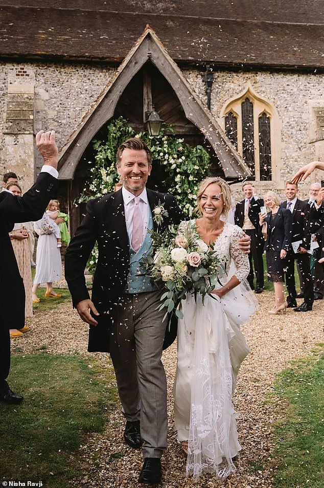 Pat Allerton, 42, a pastor in Notting Hill, has married his fiancée Kirsty Turnbull, 33, in an intimate ceremony after proposing during lockdown