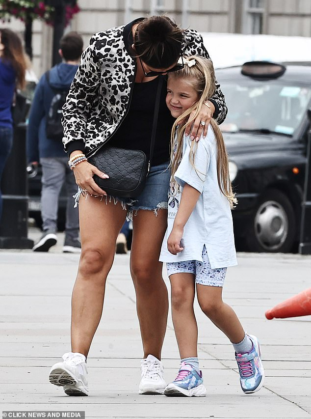 Cute: Rebekah was seen raving about Sofia as she pulled her closer to her for a hug