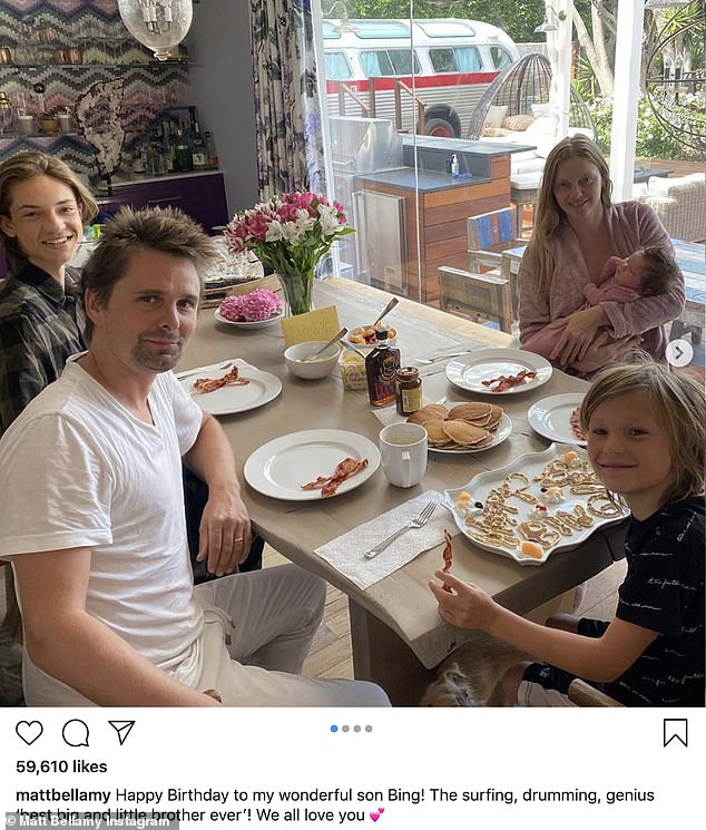 Close Friends: Kate Hudson and Muse frontman Matt have remained the friendliest exes since they split in 2014 after a four-year relationship.  The former couple celebrated the birthday of their son Bingham together last July