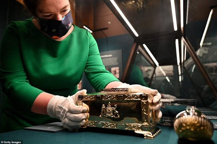 On display for the first time will be the silver-gilt casket presented to Prince Philip with the Freedom of the City of Edinburgh in 1949 (pictured)