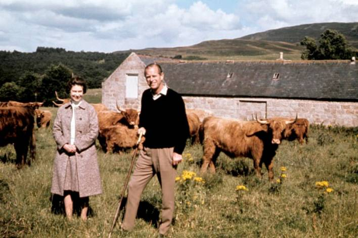 Many items have been chosen to highlight his close links with Scotland and Edinburgh, which began when he was 13 and a pupil at Gordonstoun school in Moray (pictured, with the Queen in Balmoral during a visit to celebrate their Silver Wedding anniversary in 1972)
