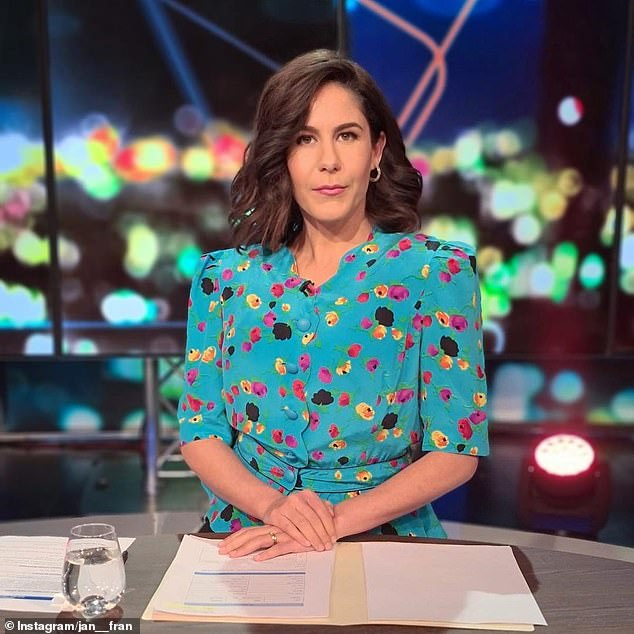 Unimpressed: Project Jan Fran's 36-year-old co-host (pictured) seemed lost for words, writing: 'Okay, I'm not sure what's happening, but this really upsets me'