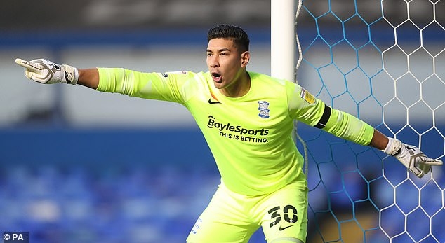 He will provide cover for Neil Etheridge, who was hospitalized after contracting Covid-19