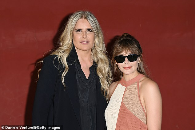 Strike a pose: The actress posed for a photo with Tiziana Rocca at the event