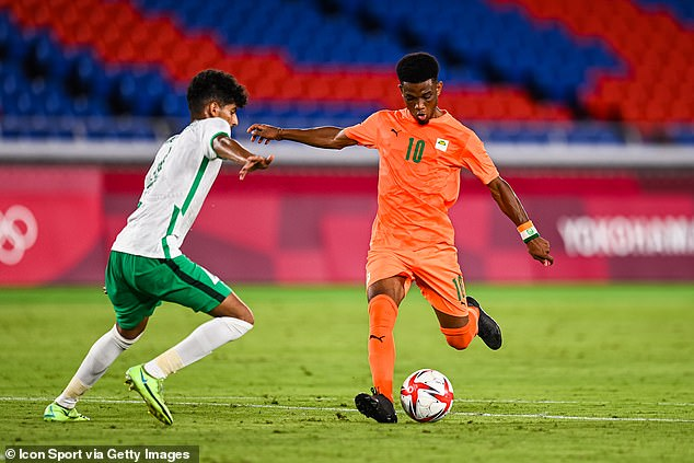 Manchester United winger Amad Diallo in action as Ivory Coast beat Saudi Arabia 2-1
