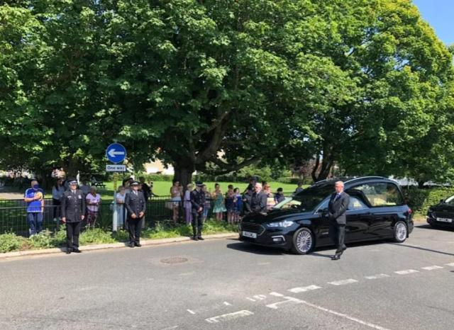 Murdered PCSO Julia James laid to rest in emotional funeral as dozens of police officers pay tribute