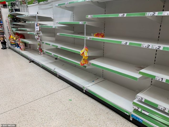 Empty shelves in Asda as Britain was caught in a perfect storm of staff shortages and a lack of lorry drivers