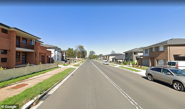 Emergency services ran to a reservation on Withers Road (pictured) in Rouse Hill around 6:10 p.m. Thursday, where they found the 21-year-old men with stab wounds.