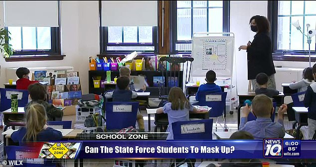Lansing school (pictured) says masks block God's image by obscuring the face, and says they hinder religious education