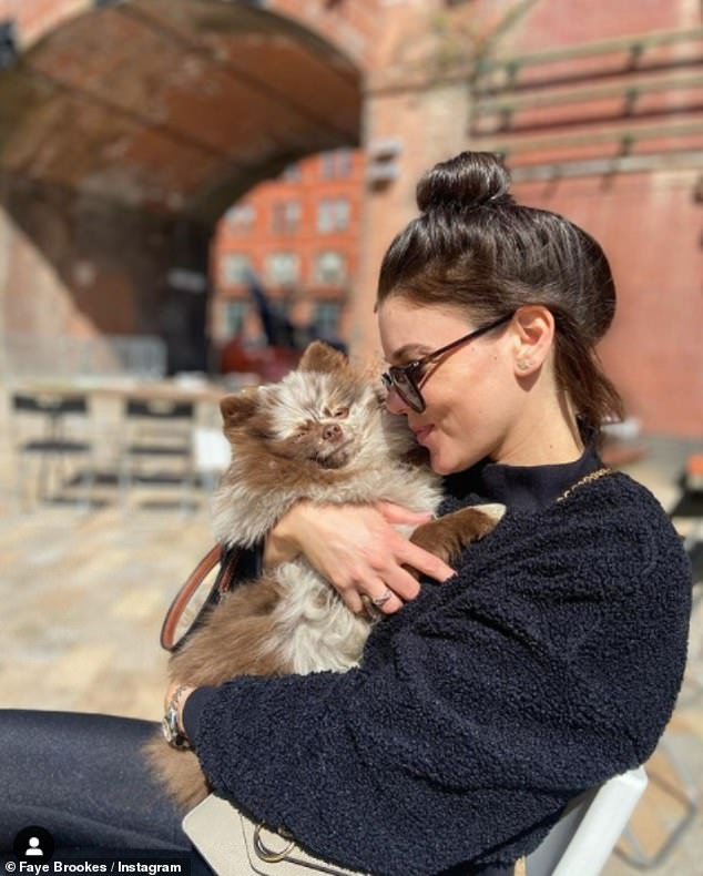 Concern: Faye Brookes has reportedly left neighbors concerned for the welfare of her dogs, claiming she let them bark 'all day and night' on her balcony
