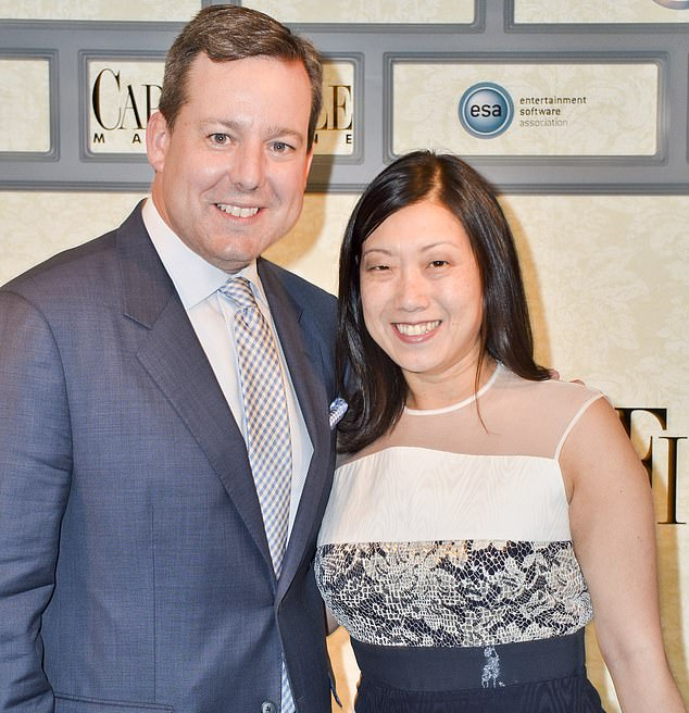 Former Fox News anchor Ed Henry is pictured with his wife Shirley